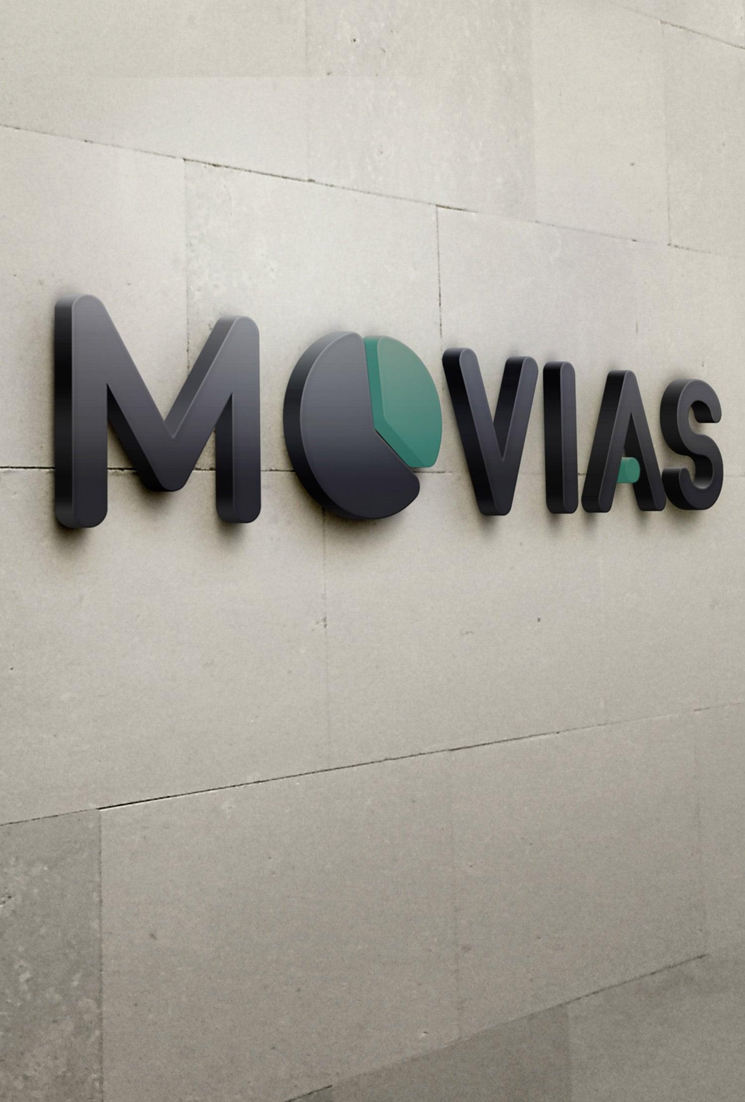 movias full branding wall sign