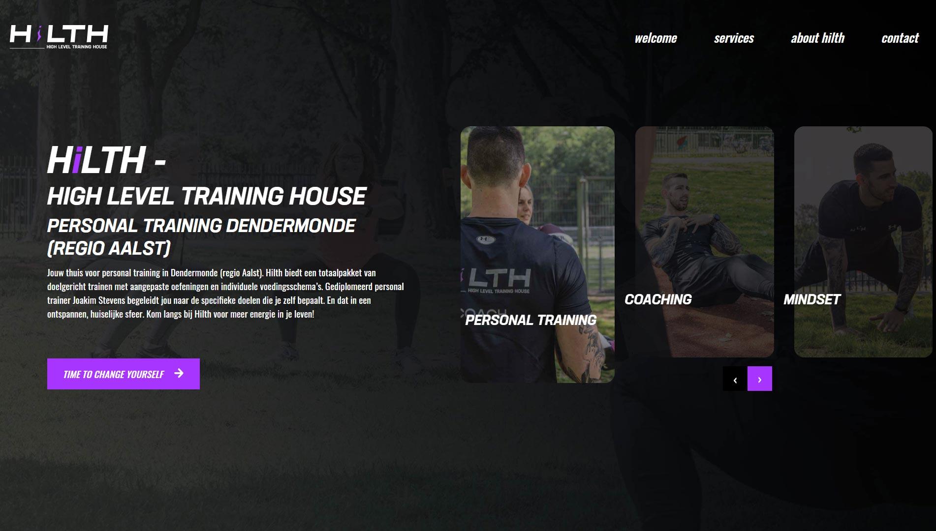 webdesign ontwerpen voor hilth personal training
